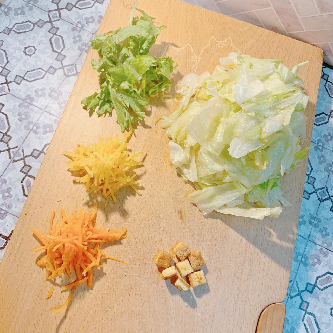 一日野菜-萵苣沙拉 屬裡面的蔬菜們